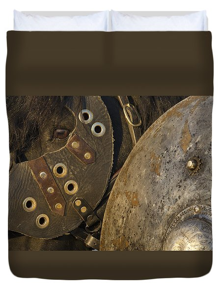 Dressed For Battle Duvet Cover by Wes and Dotty Weber