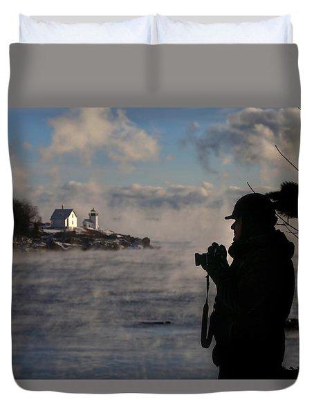 Dressed For Sea Smoke Duvet Cover