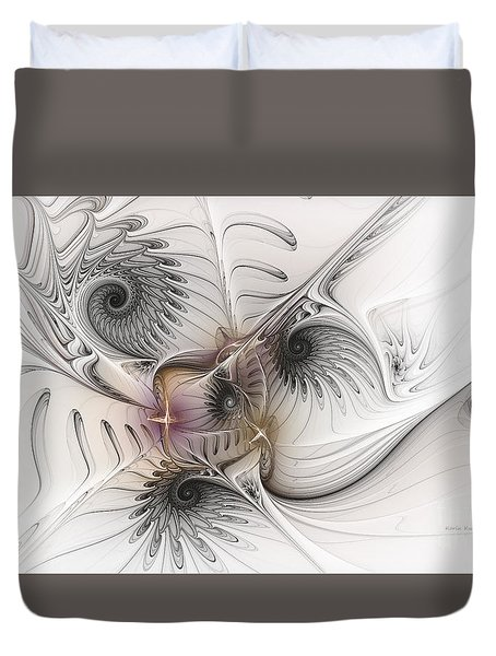 Duvet Cover featuring the digital art Dressed In Silk And Satin by Karin Kuhlmann