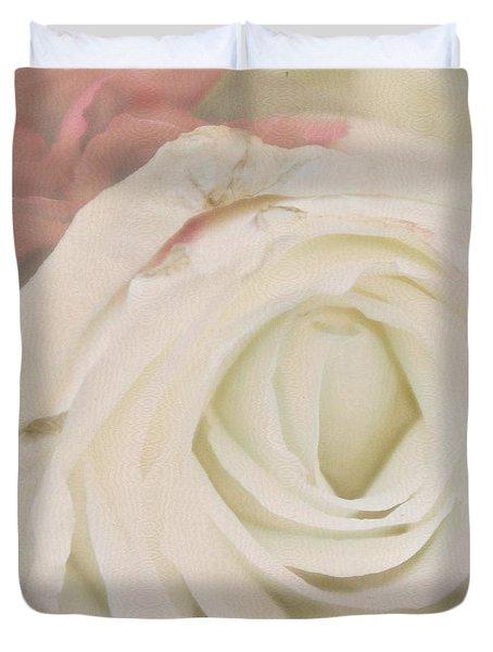 Dressed In White Satin Duvet Cover