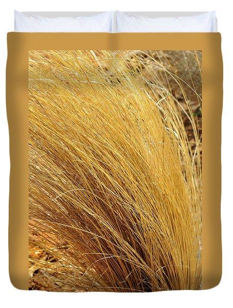 Dried Grass Duvet Cover