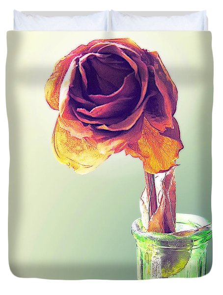 Dried Rose Duvet Cover by Brian Wallace