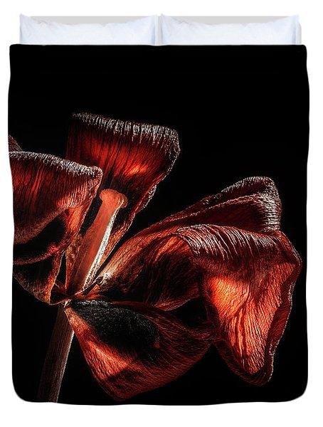 Dried Tulip Blossom Duvet Cover