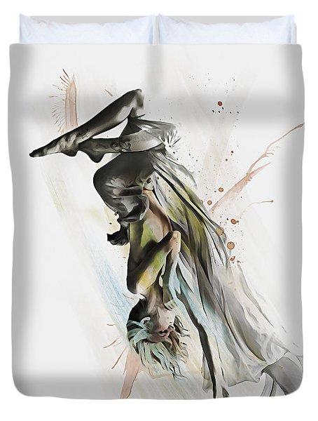 Drift Contemporary Dance Two Duvet Cover