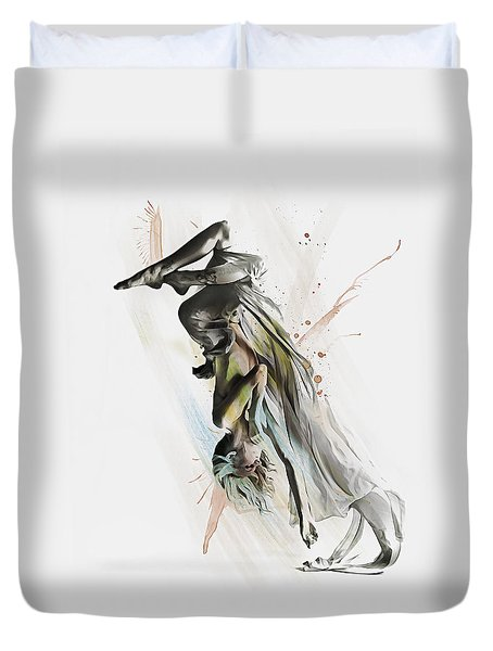 Drift Contemporary Dance Two Duvet Cover