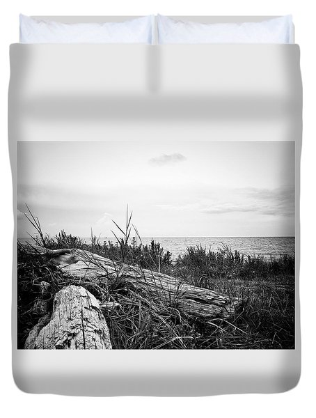 Duvet Cover featuring the photograph Drift Wood by Karen Stahlros