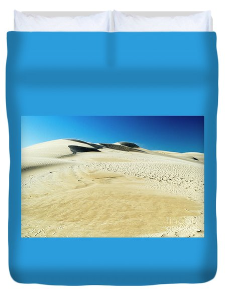Duvet Cover featuring the photograph Drifting Away by Angela DeFrias