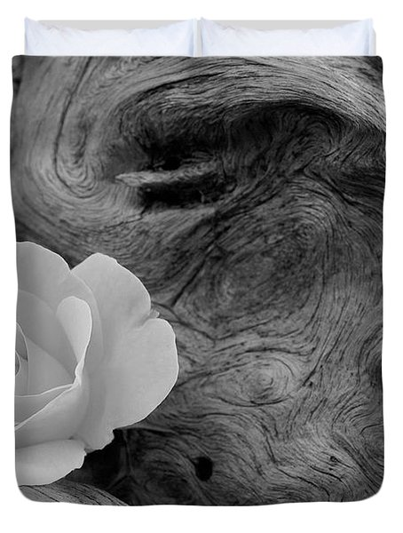 Driftwood And Roses Duvet Cover