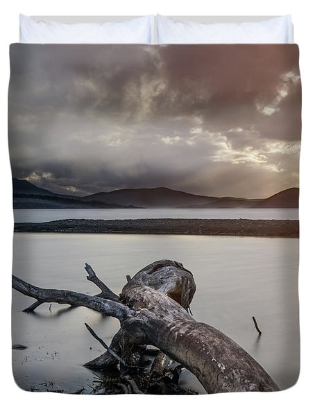 Driftwood At The End Of The World Duvet Cover
