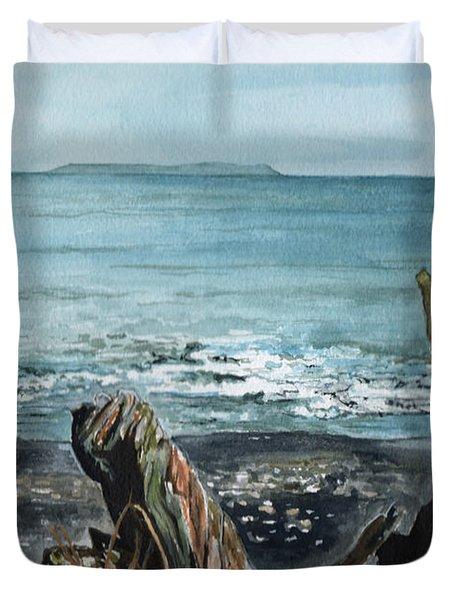 Driftwood Duvet Cover by Brenda Owen