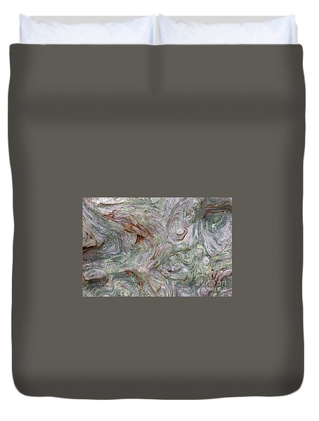 Driftwood Burl Duvet Cover by Chuck Flewelling