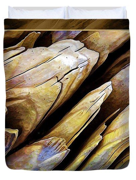 Driftwood Edges Duvet Cover
