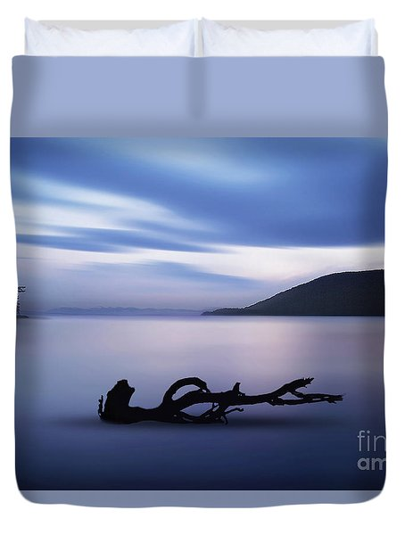 Duvet Cover featuring the photograph Driftwood by Jim  Hatch