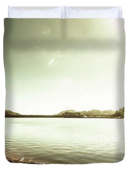 Driftwood Lakes Duvet Cover