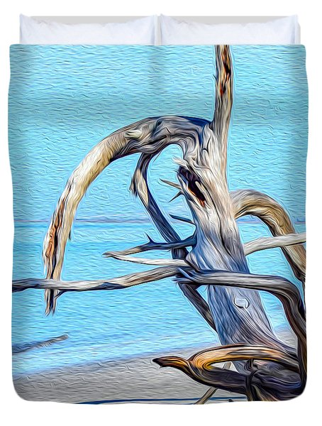 Driftwood On Jekyll Duvet Cover