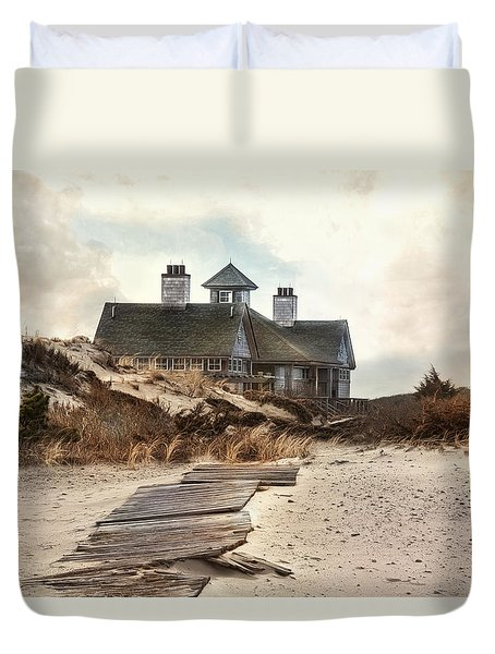 Duvet Cover featuring the photograph Driftwood by Robin-Lee Vieira