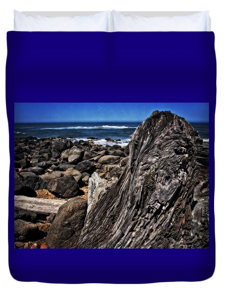 Driftwood Rocks Water Duvet Cover by Thom Zehrfeld