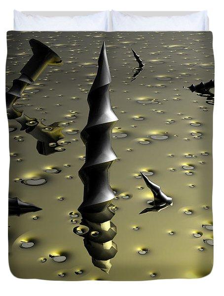 Drill Baby Drill Duvet Cover by Robert Orinski