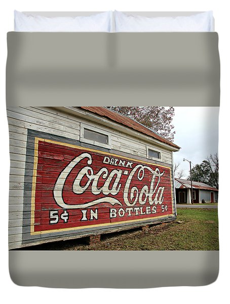 Drink Coca-cola Duvet Cover by Lynn Jordan