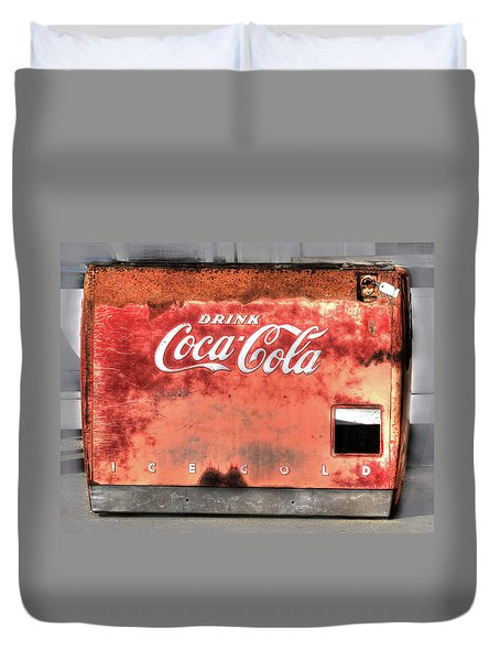Drink Ice Cold Coca Cola Duvet Cover