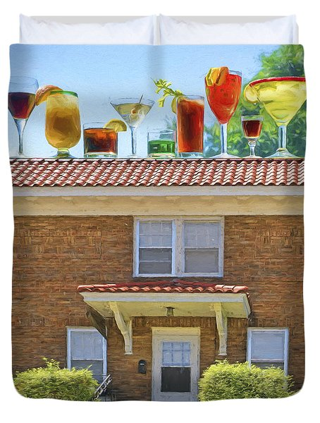 Drinks On The House Duvet Cover by Nikolyn McDonald