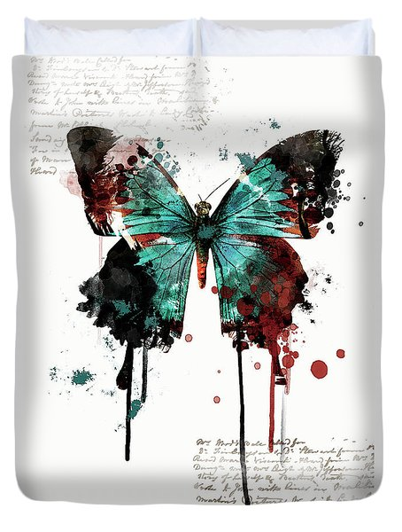 Dripping Butterfly Duvet Cover
