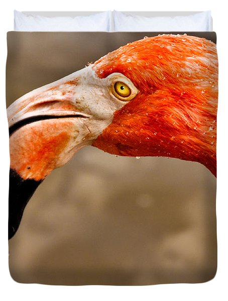 Dripping Flamingo Duvet Cover by Christopher Holmes