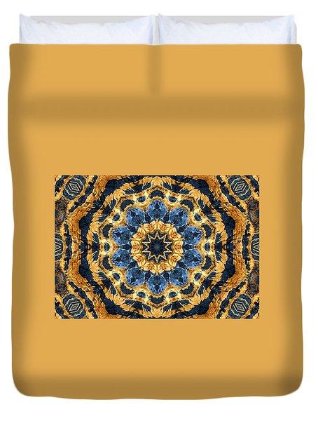 Dripping Gold Kaleidoscope Duvet Cover