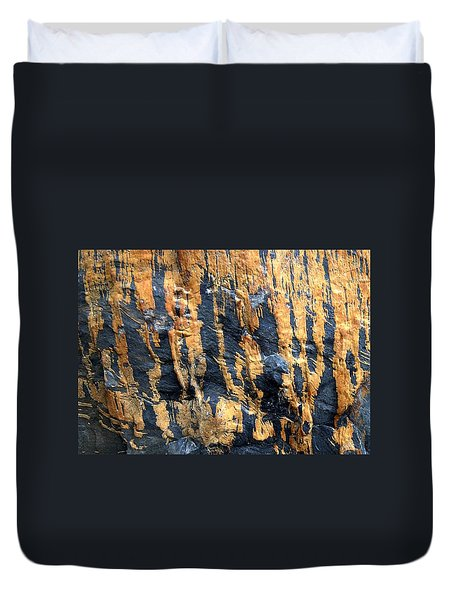 Dripping Gold Duvet Cover