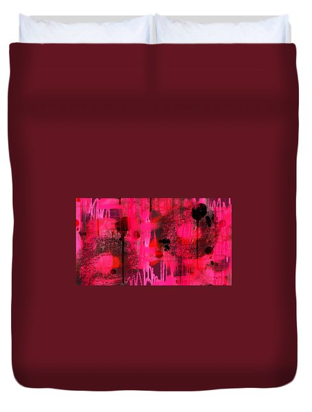 Dripping Pink Duvet Cover