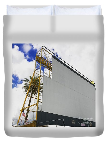Drive-in Fort Lauderdale, Florida Duvet Cover