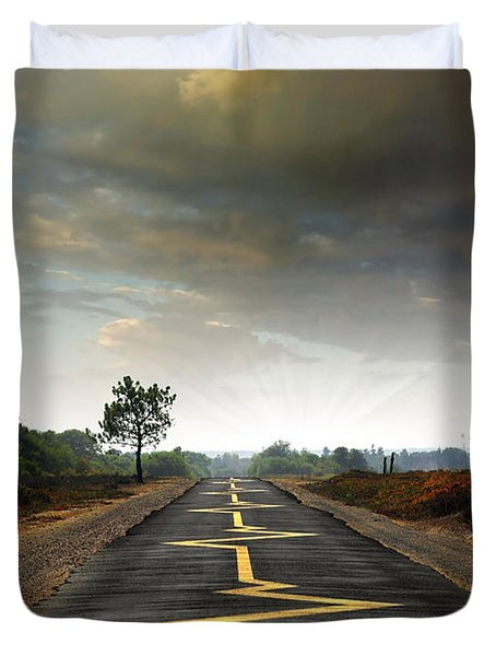 Drive Safely Duvet Cover by Carlos Caetano
