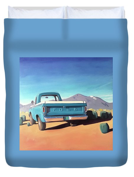Drive Through The Sagebrush Duvet Cover
