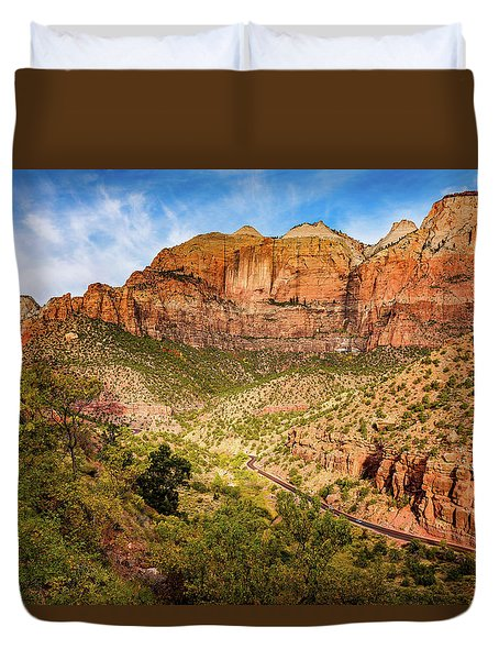 Driving Into Zion Duvet Cover