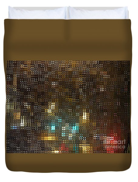 Driving Rain Duvet Cover by Sarah Loft