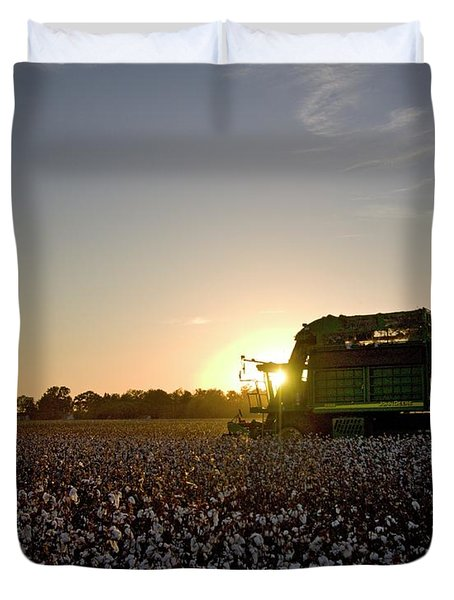 Driving Sunset Duvet Cover