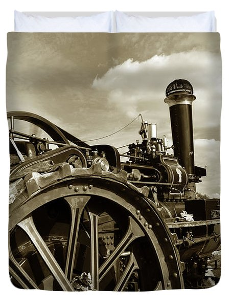 Driving The Engine Duvet Cover by Rob Hawkins