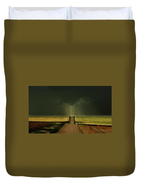 Driving Toward The Daylight Duvet Cover