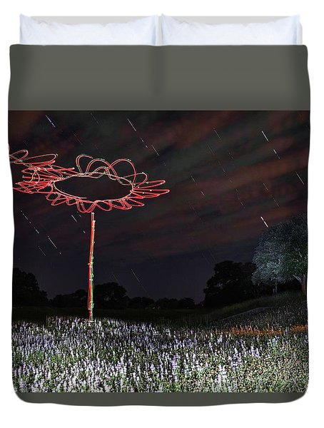 Drone Flowers Duvet Cover