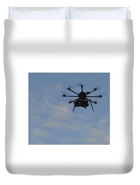 Duvet Cover featuring the photograph Drone by Linda Geiger