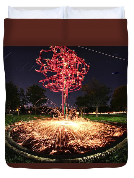 Drone Tree 1 Duvet Cover