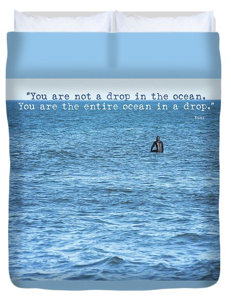 Drop In The Ocean Surfer  Duvet Cover by Terry DeLuco