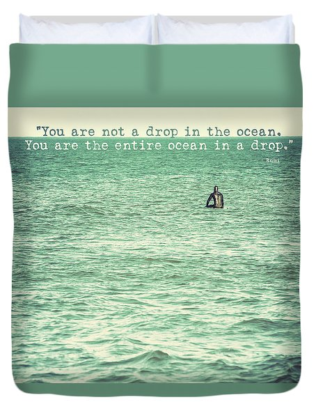Drop In The Ocean Surfer Vintage Duvet Cover by Terry DeLuco