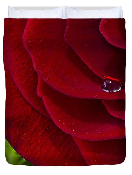 Drop On A Rose Duvet Cover