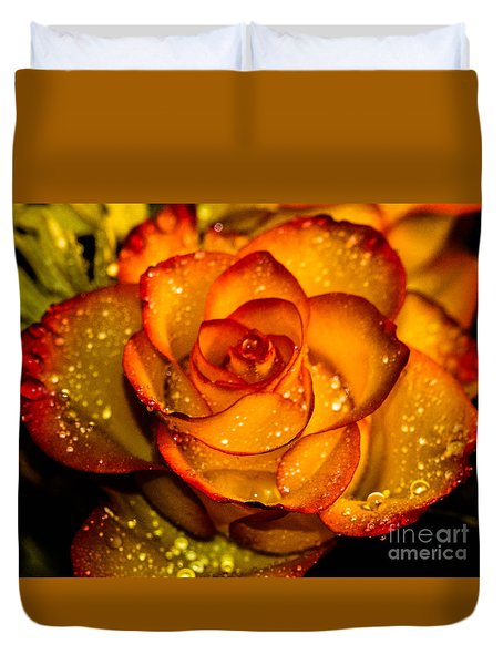 Droplet Rose Duvet Cover