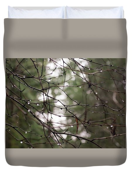 Droplets On Branches Duvet Cover