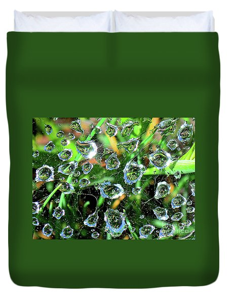Drops Of Reflection Duvet Cover