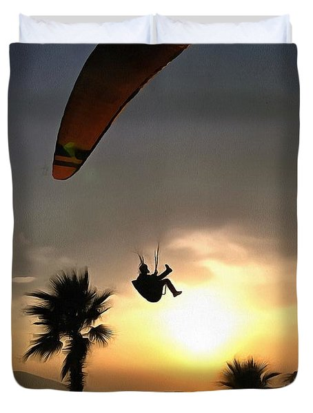 Dropzone At Dusk Duvet Cover