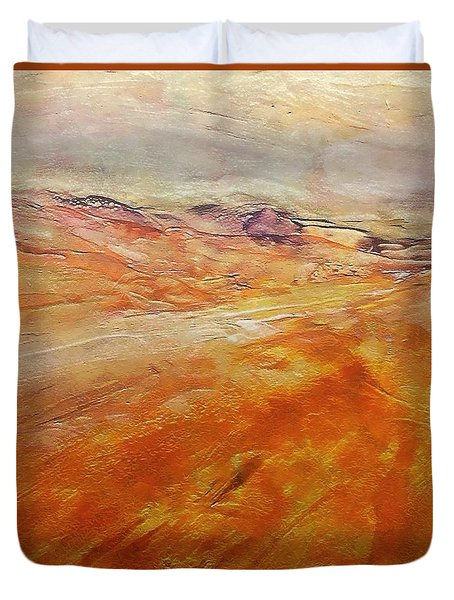 Duvet Cover featuring the painting Drought by Dragica  Micki Fortuna