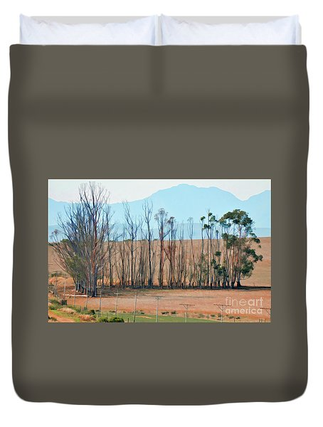Drought-stricken South African Farmlands - 3 Of 3 Duvet Cover